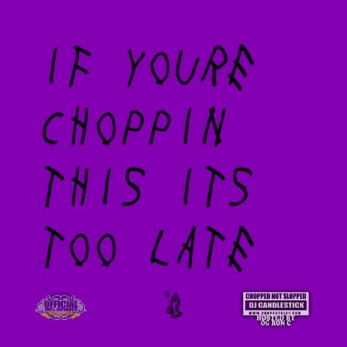 If Your Choppin This its too Late Cover