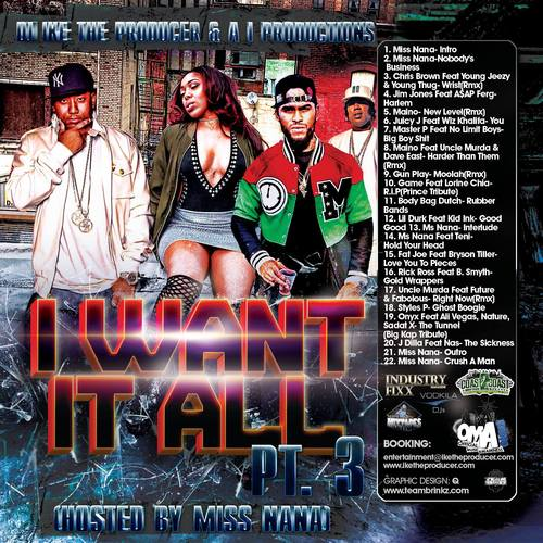 Stream  DJ Ike The Producer Mixtape DJ ike The Producer & A i Productions Presents I Want It All 3 Hosted By Miss Nana Download + Stream